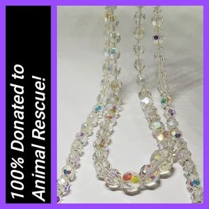 Two Crystalline Beaded Necklaces